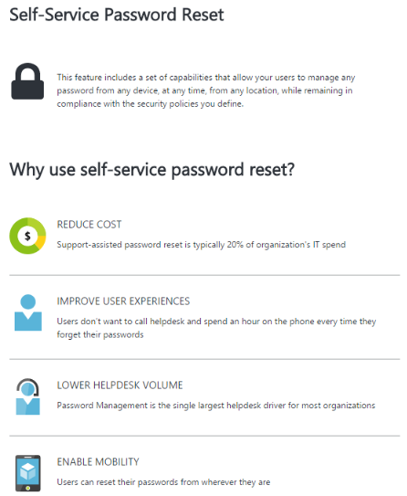 Why use self-service password reset?