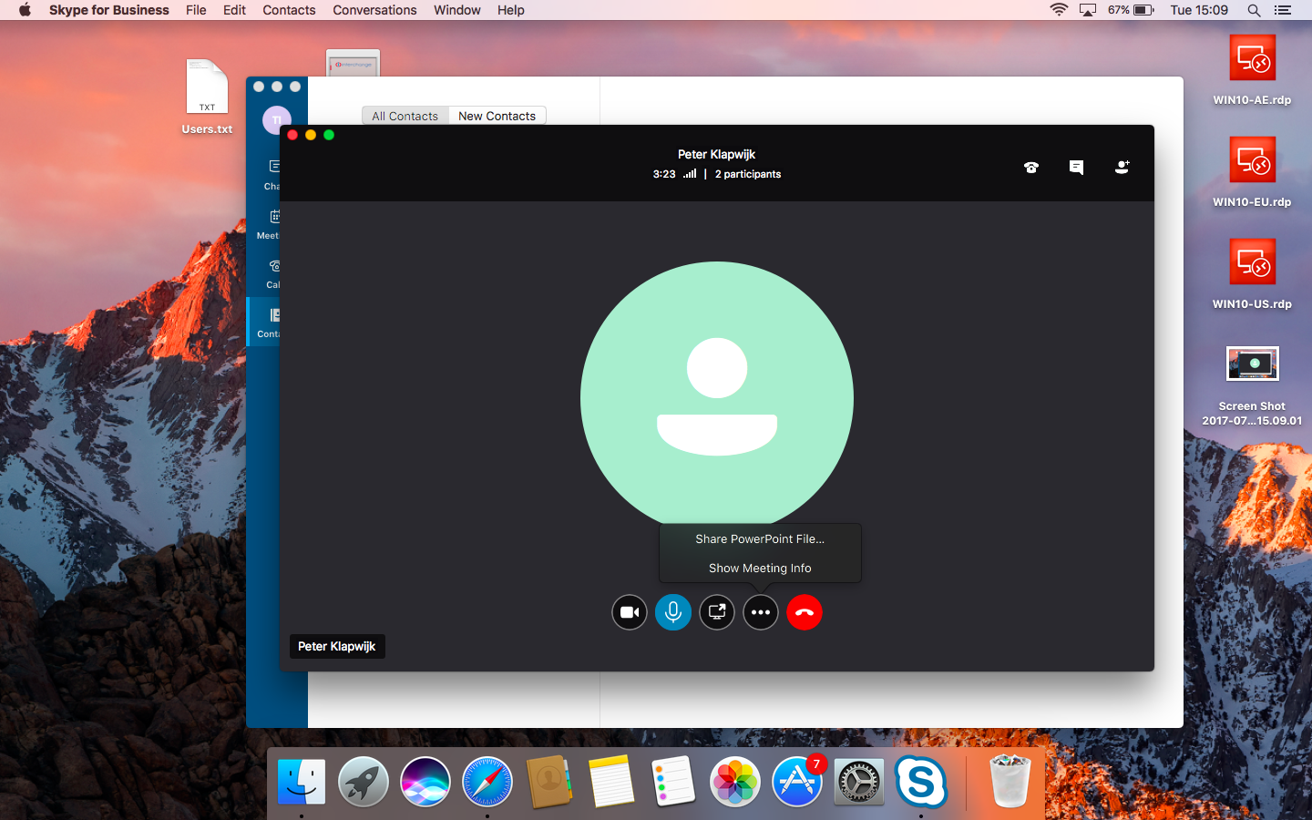 Skype for business latest version mac