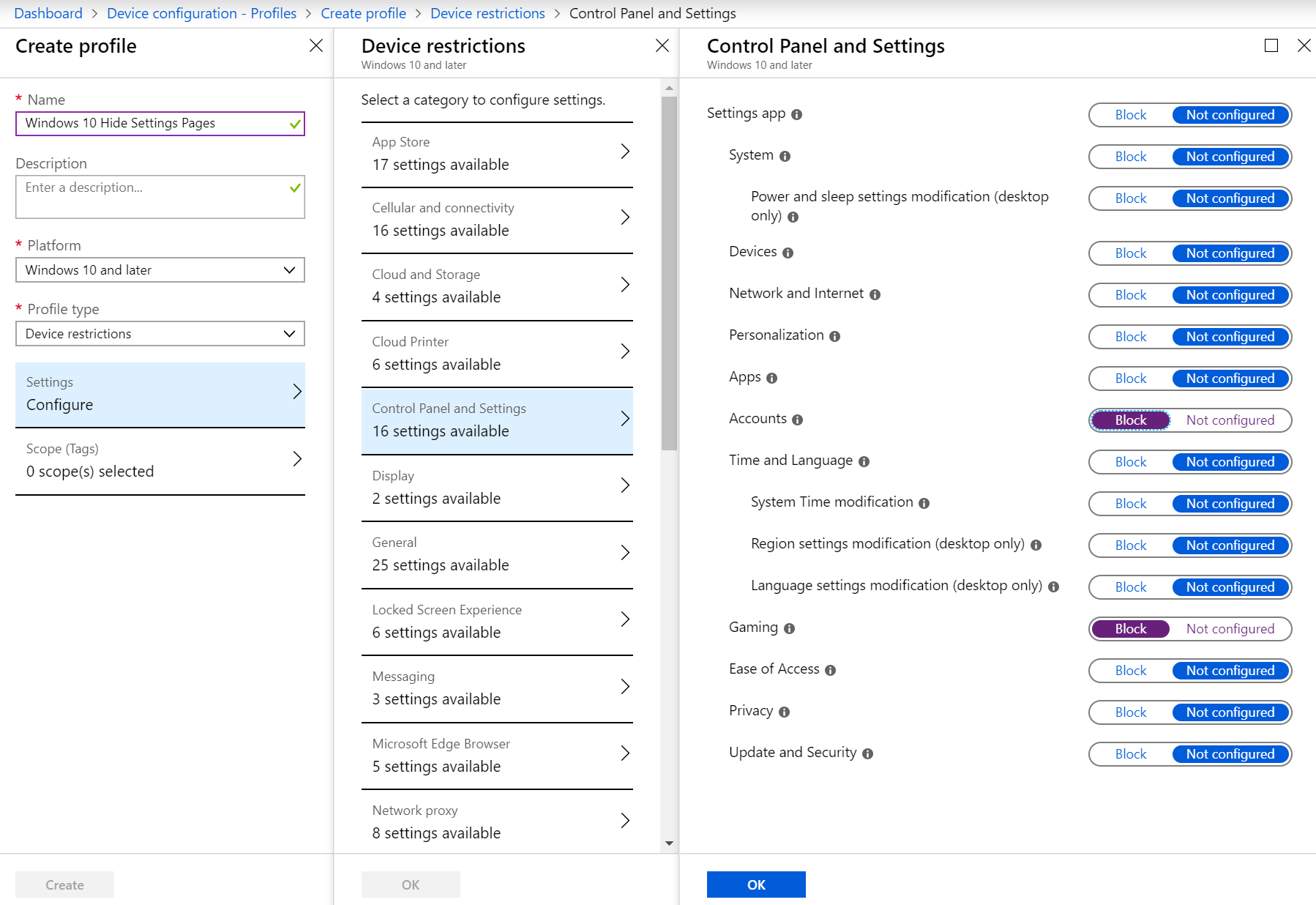 Hide Windows 10 settings pages01 | Peter Klapwijk - In The cloud 24-7