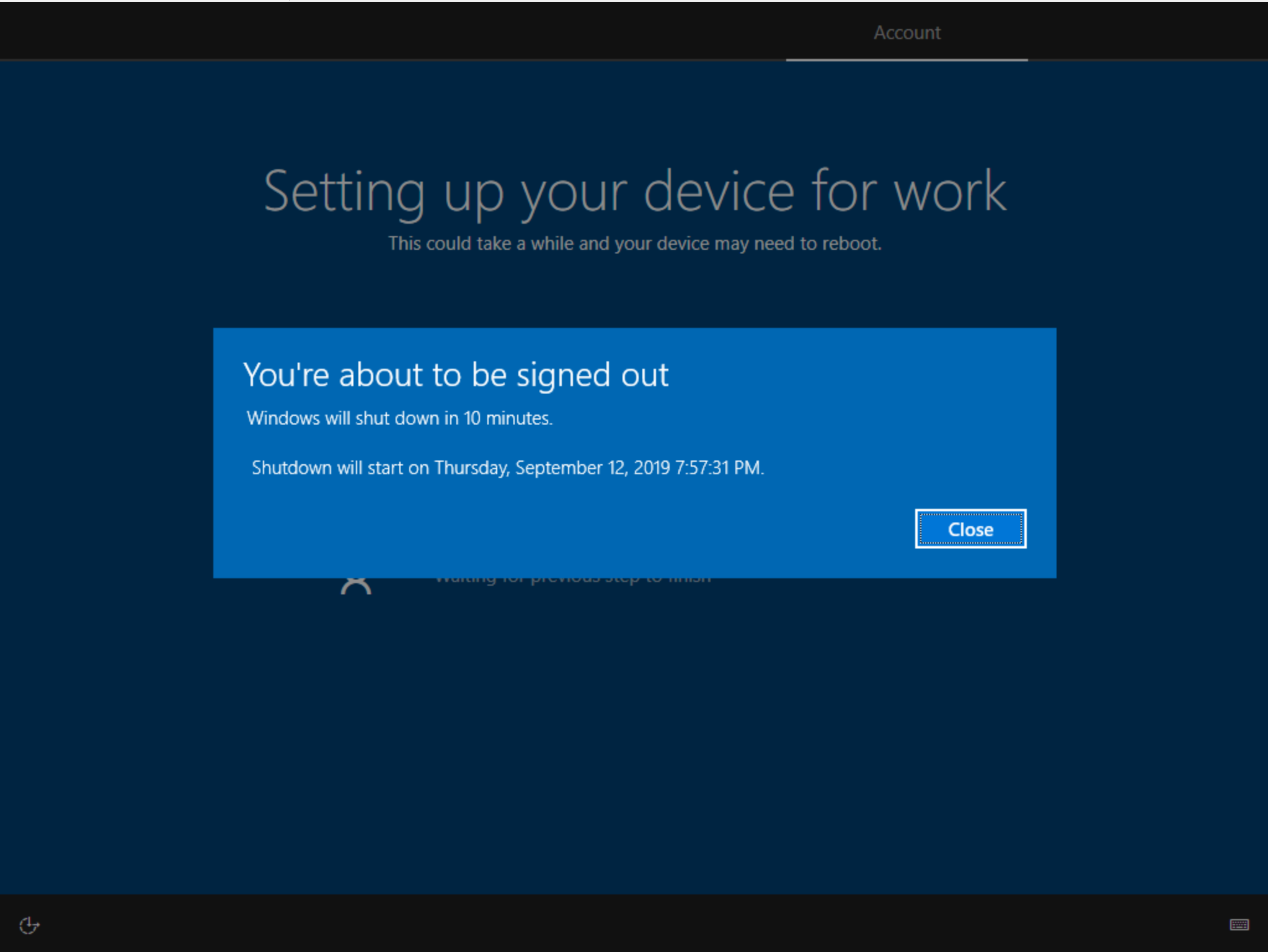 Windows Autopilot: You`re about to be signed out | Peter Klapwijk - In The  cloud 24-7